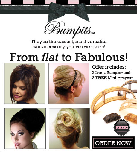 save a bundle on hairdressing cost: Bumpits Volumized Hair in Seconds