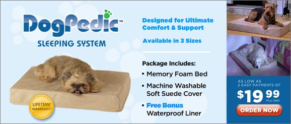 DogPedic™ Sleeping System — Designed for Ultimate Comfort & Support